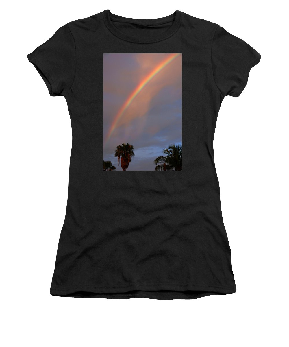 Photography Women's T-Shirt (Athletic Fit) featuring the photograph Tropical Rainbow by Susanne Van Hulst