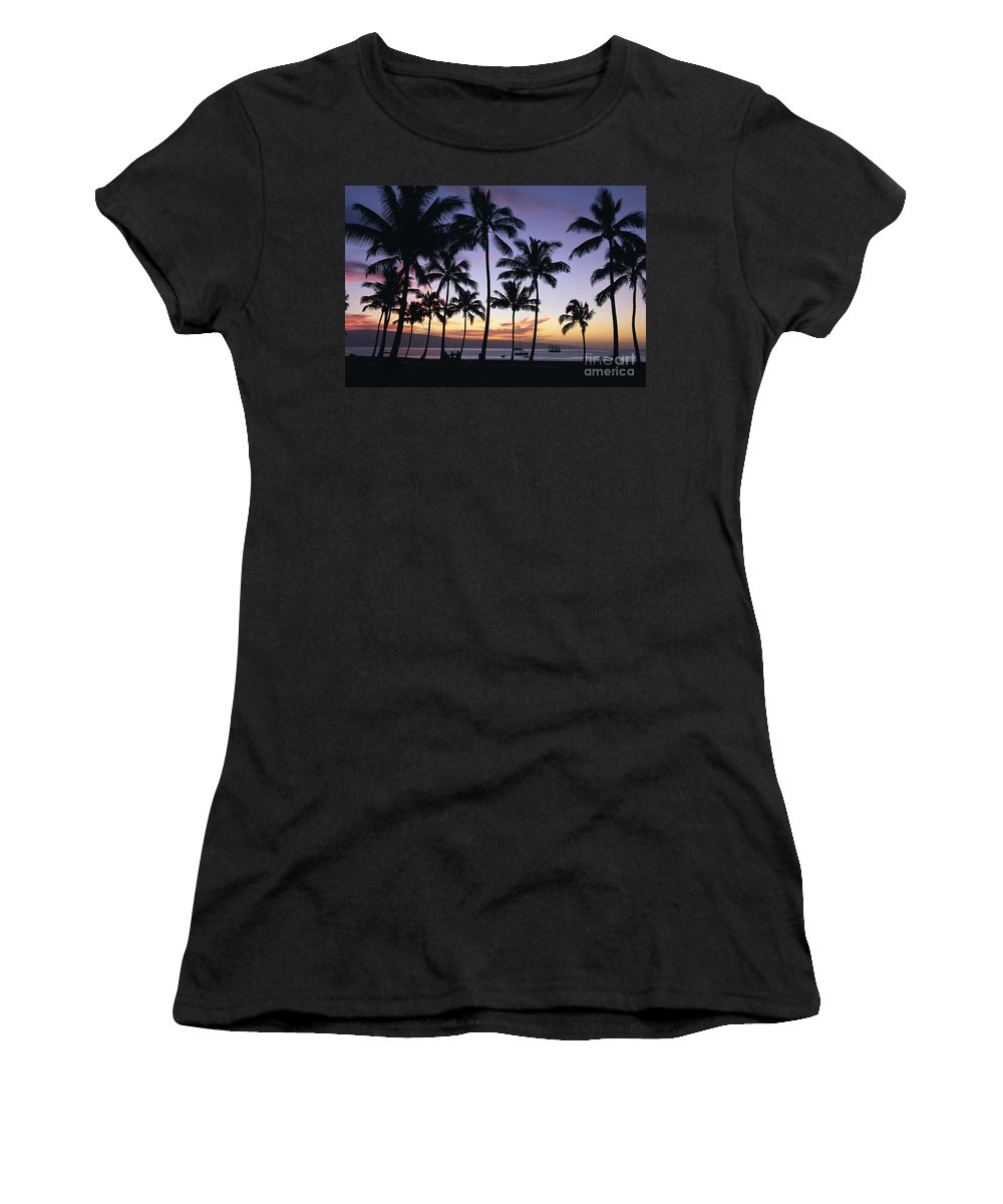 Airport Women's T-Shirt featuring the photograph Tropical Sunset by Bill Schildge - Printscapes