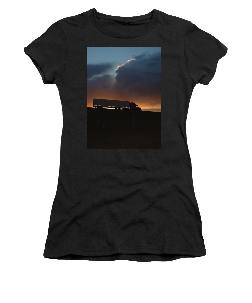 Truck Women's T-Shirt featuring the photograph Trucking Along by Jerry McElroy