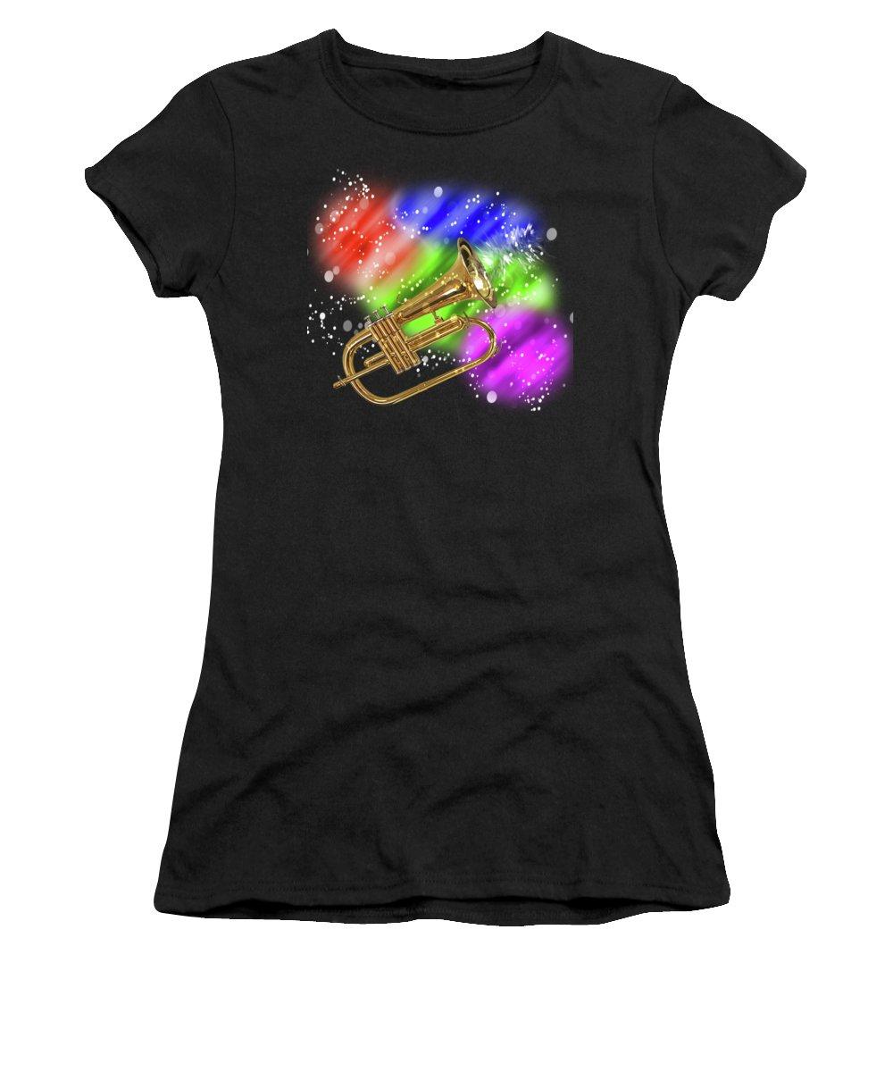 Music Women's T-Shirt featuring the photograph Trumpet Celebration by Gill Billington