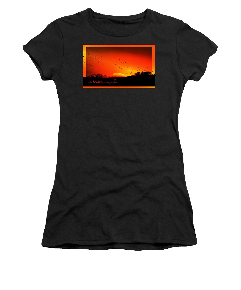 Landscape Women's T-Shirt (Athletic Fit) featuring the photograph Truth by Holly Kempe