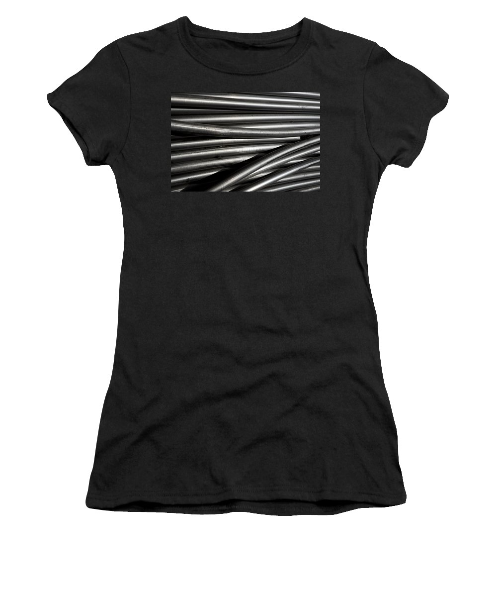 Tubes Women's T-Shirt (Athletic Fit) featuring the photograph Tubular Abstract Art Number 2 by James BO Insogna