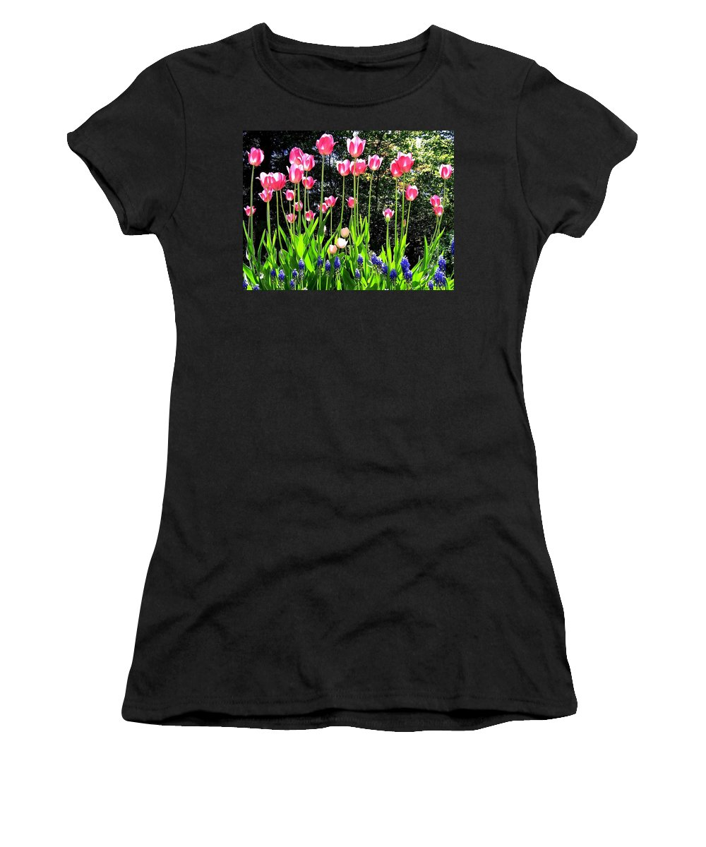 Tulips Women's T-Shirt (Athletic Fit) featuring the photograph Tulipfest 10 by Will Borden