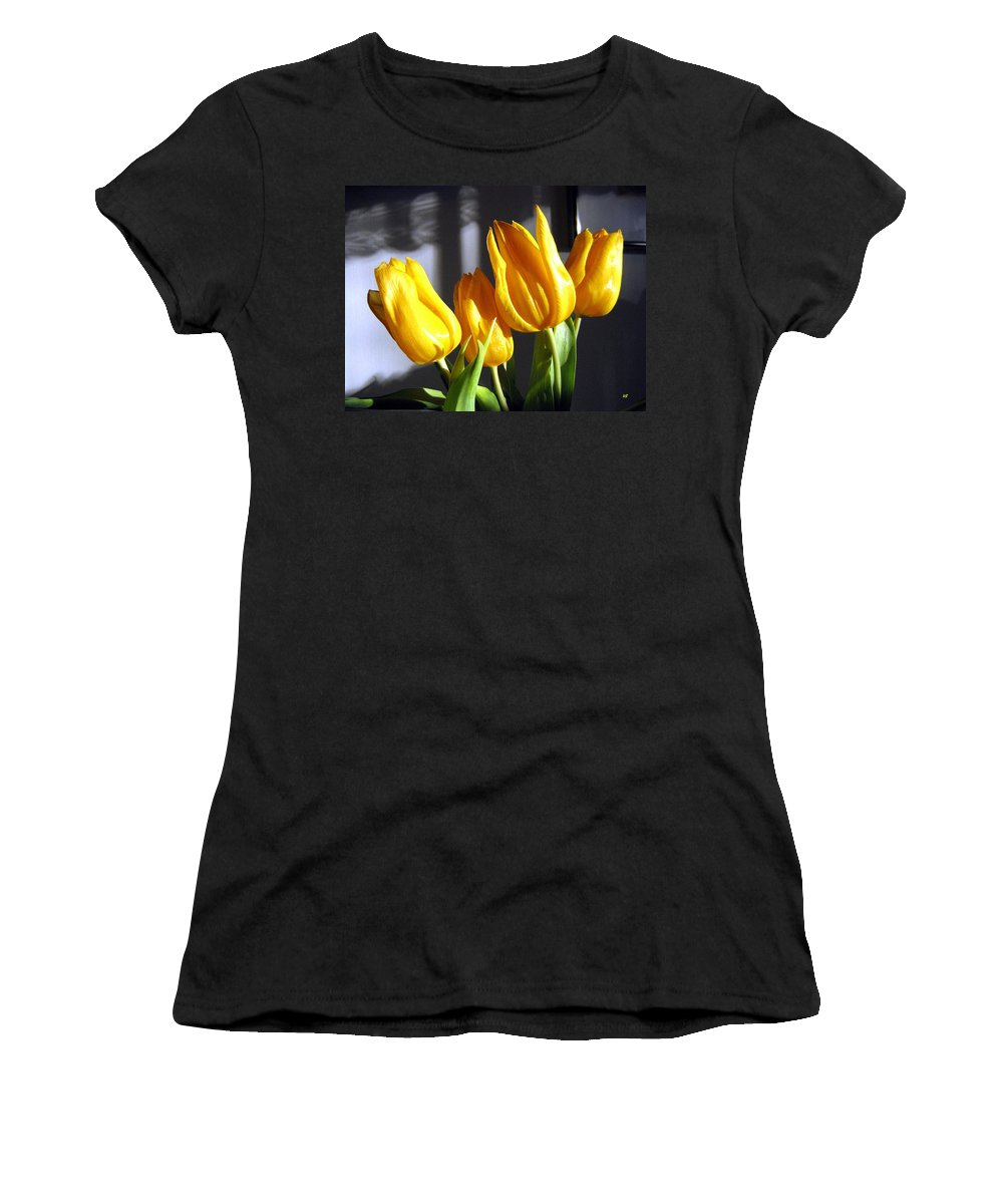 Tulips Women's T-Shirt (Athletic Fit) featuring the photograph Tulipfest 2 by Will Borden