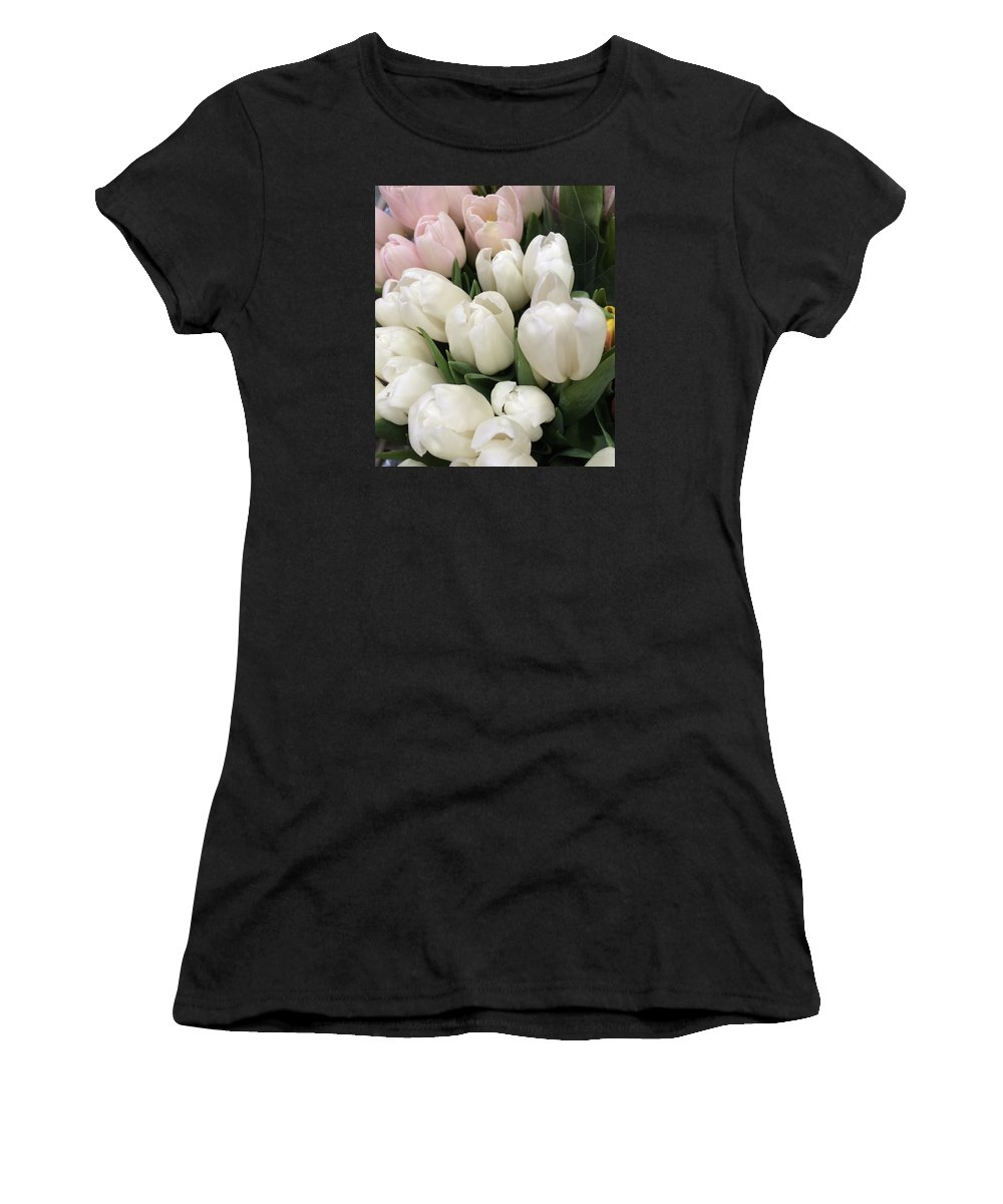Flowers Women's T-Shirt featuring the photograph Tulips by Maneet Kaur