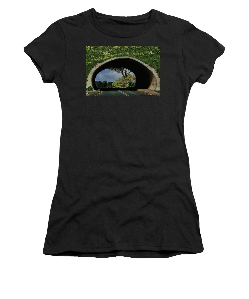 Tunnel Women's T-Shirt featuring the photograph Tunnel Vision by Douglas Barnard