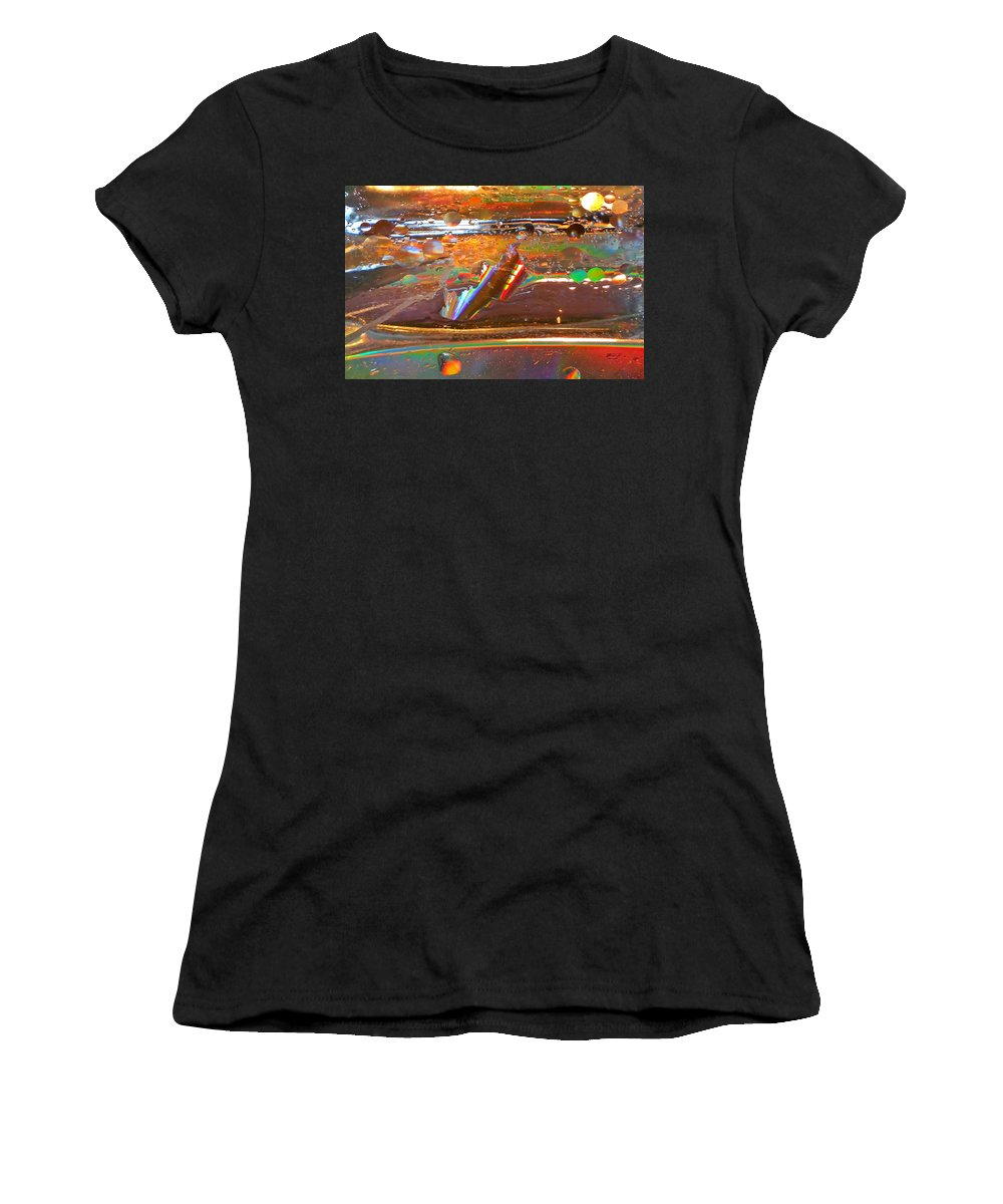 Turbulence Women's T-Shirt (Athletic Fit) featuring the photograph Turbulence by Rob Mandell