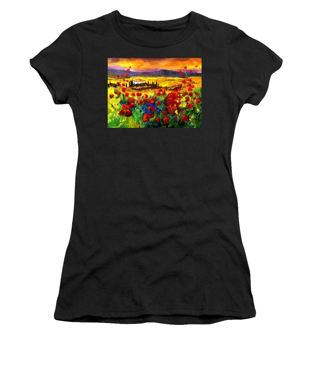 Landscape Women's T-Shirt featuring the painting Tuscany 68 by Pol Ledent