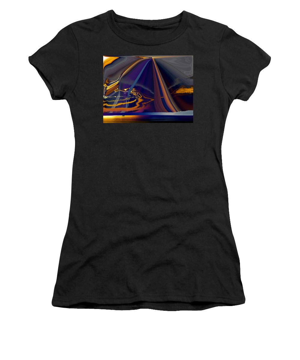 Abstract Women's T-Shirt (Athletic Fit) featuring the photograph Twilight Journey by Tim Allen