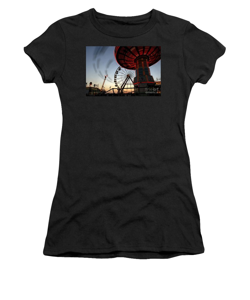 Fair Women's T-Shirt (Athletic Fit) featuring the photograph Twirling Away by David Lee Thompson