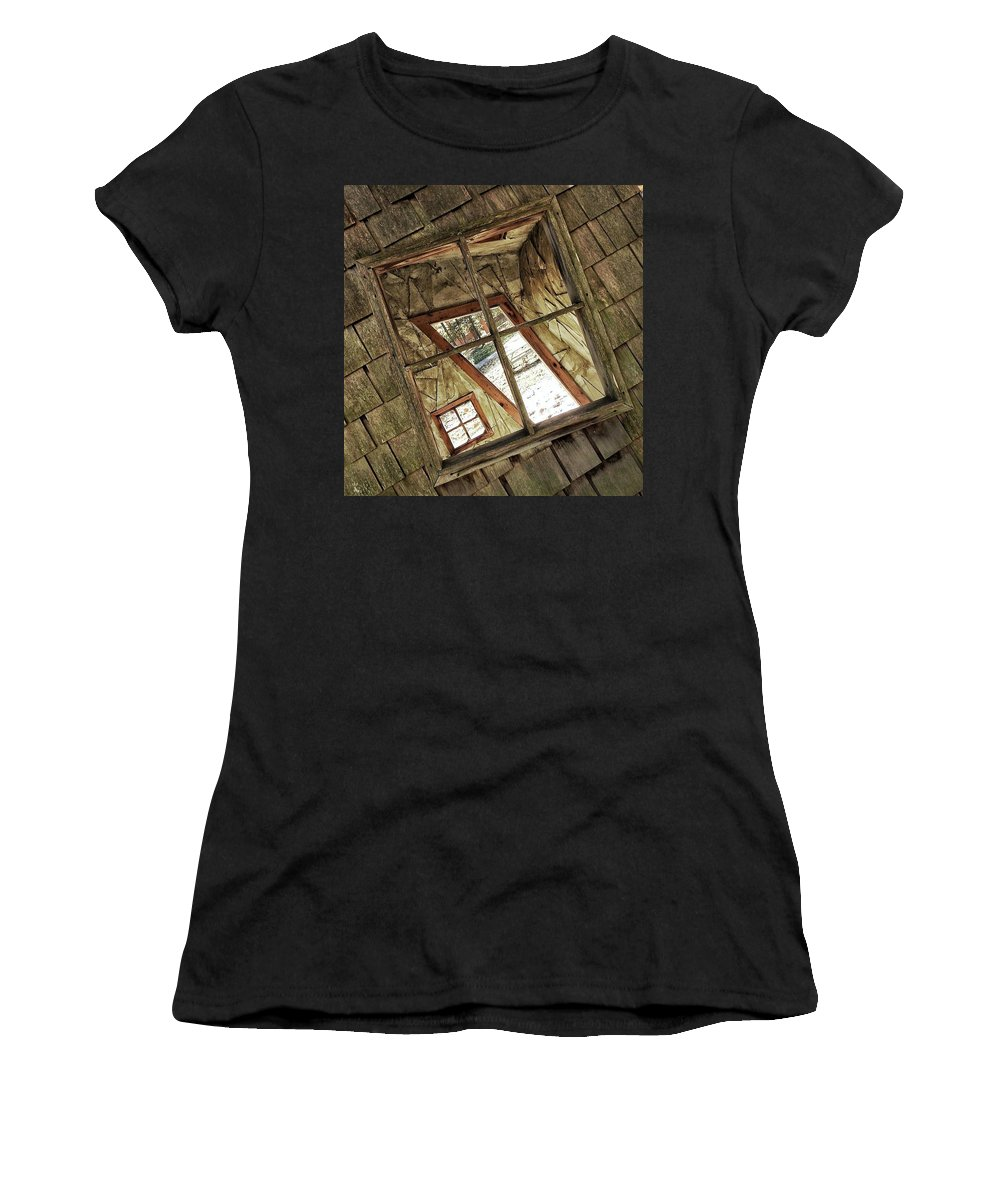 Women's T-Shirt (Athletic Fit) featuring the photograph Twisted House by Renee Longo