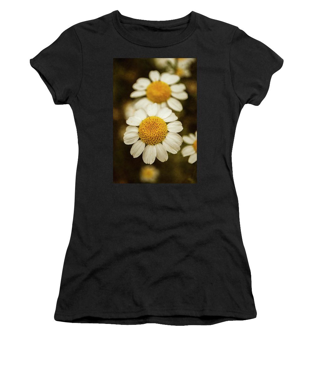 Photography Women's T-Shirt featuring the photograph Two Daisies by Ignacio Leal Orozco