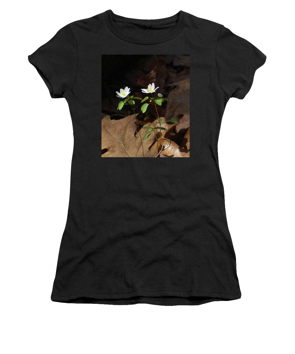Wildflowers Women's T-Shirt (Athletic Fit) featuring the photograph Two Freinds by Susan Schneider
