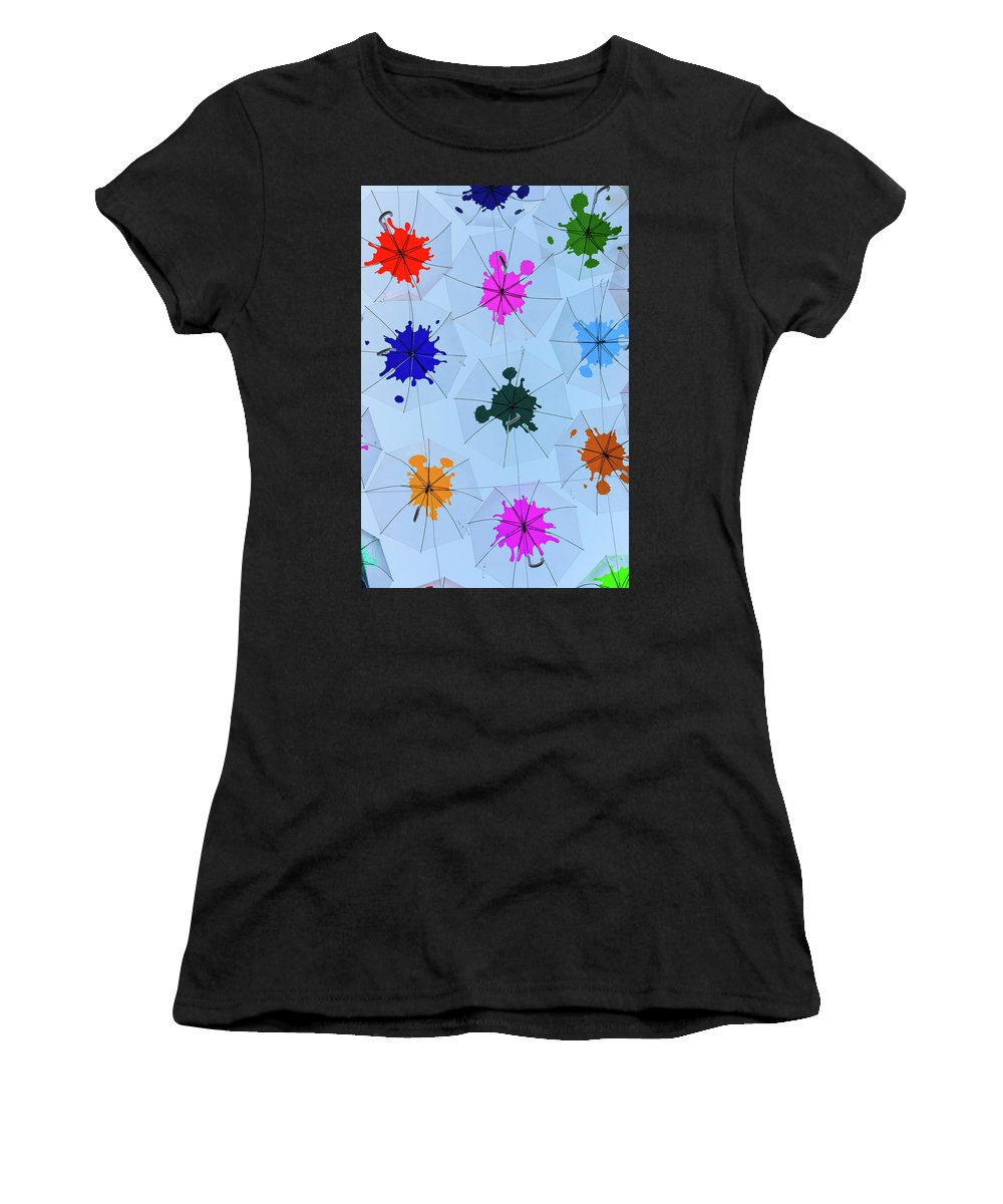 Umbrella Sky Women's T-Shirt (Athletic Fit) featuring the photograph Umbrella Sky IIi by Marco Oliveira