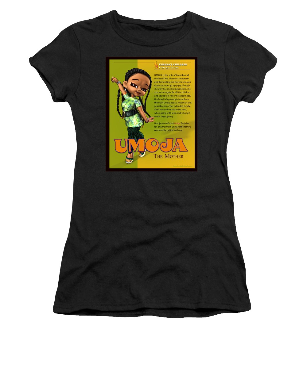 Kwanzaa Women's T-Shirt featuring the digital art Umoja The Mother by Darryl Crosby