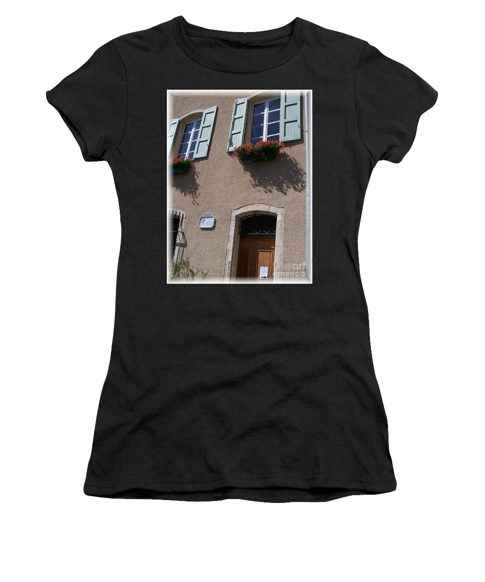 House Women's T-Shirt (Athletic Fit) featuring the photograph Un Maison by Nadine Rippelmeyer