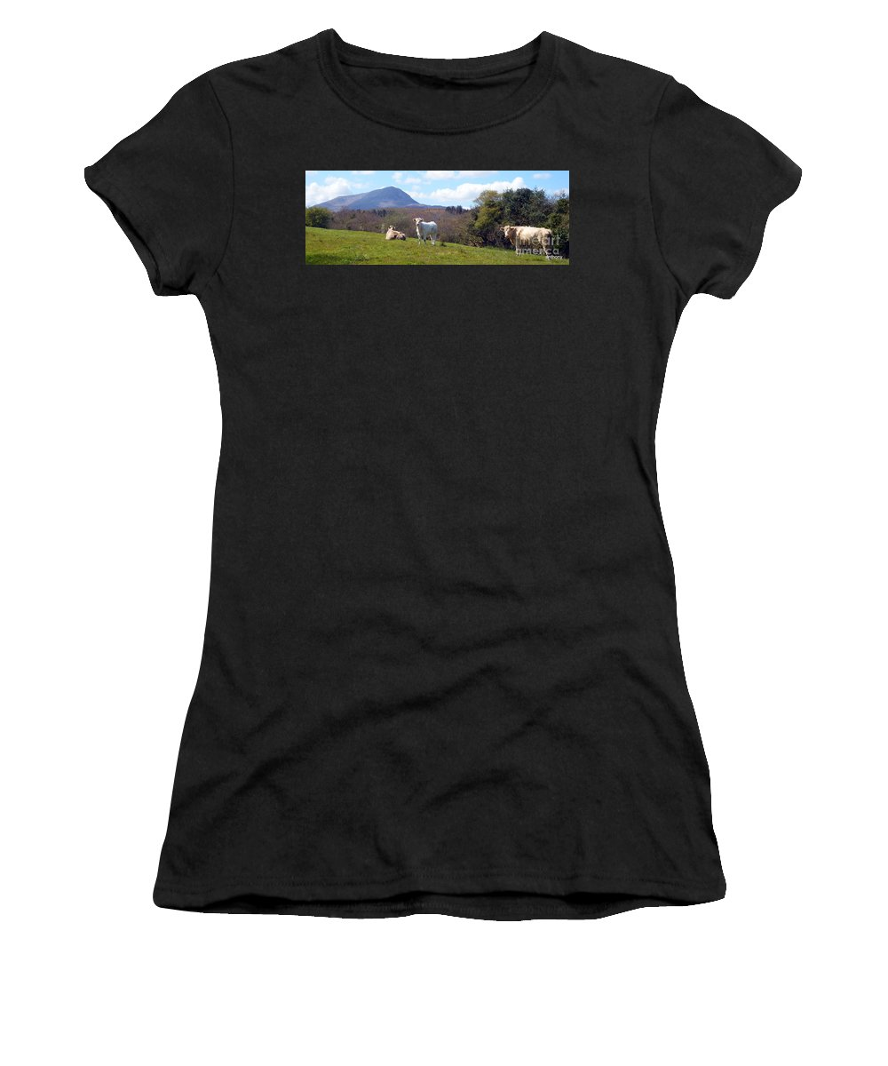 Landscape Women's T-Shirt (Athletic Fit) featuring the photograph Under Muckish ,donegal by Anthony Gallagher