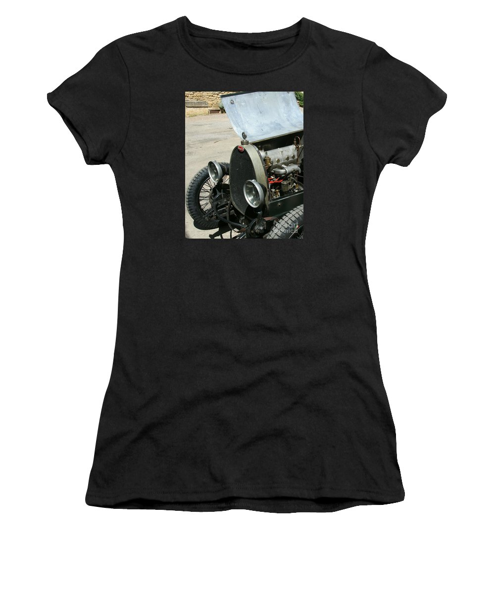 Hood Women's T-Shirt (Athletic Fit) featuring the photograph Under The Hood by Christiane Schulze Art And Photography