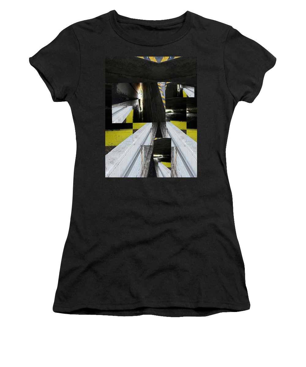 Tunnel Women's T-Shirt featuring the digital art Underground by Katherine Pearson