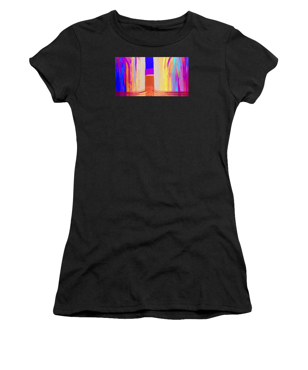 Landscape. Norwegian Title dragsug Women's T-Shirt featuring the painting Undertow. by Jarle Rosseland