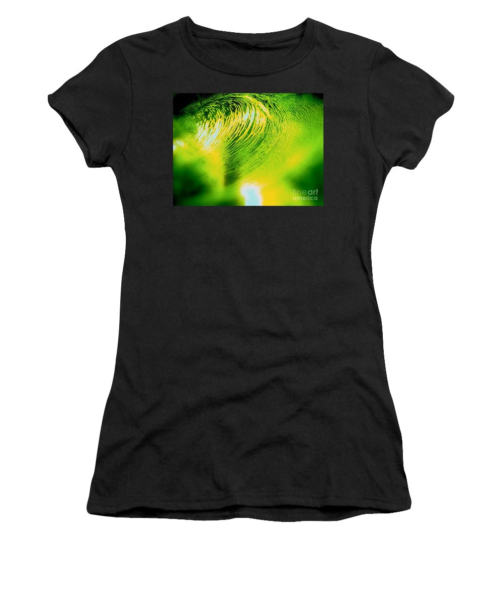 Abstract Women's T-Shirt featuring the photograph Universal Convergence by Sybil Staples
