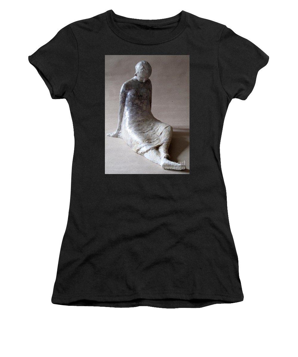 Sculpture Women's T-Shirt featuring the sculpture Unnamed by Raimonda Jatkeviciute-Kasparaviciene