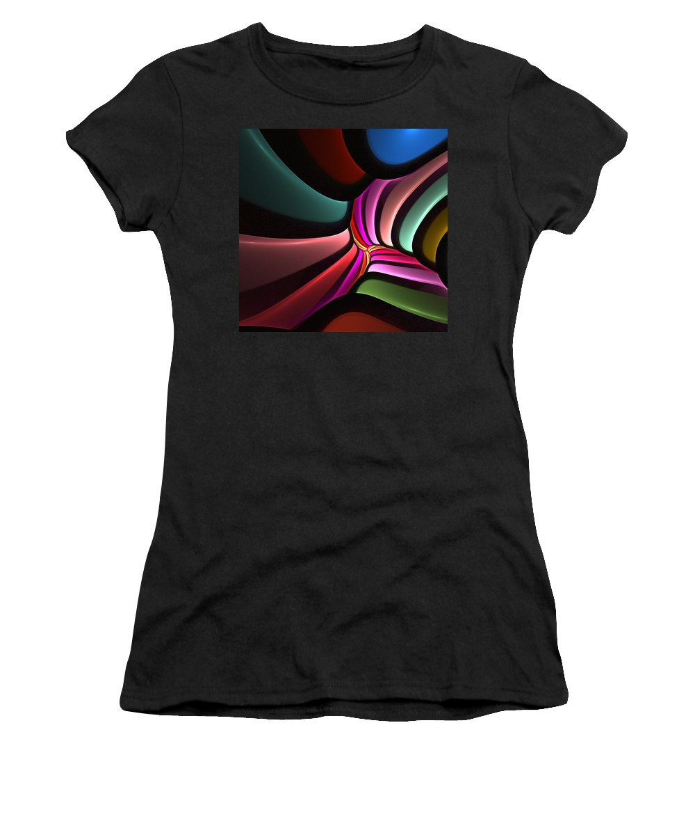 Digital Painting Women's T-Shirt (Athletic Fit) featuring the digital art Untitled 02-26-10-a by David Lane