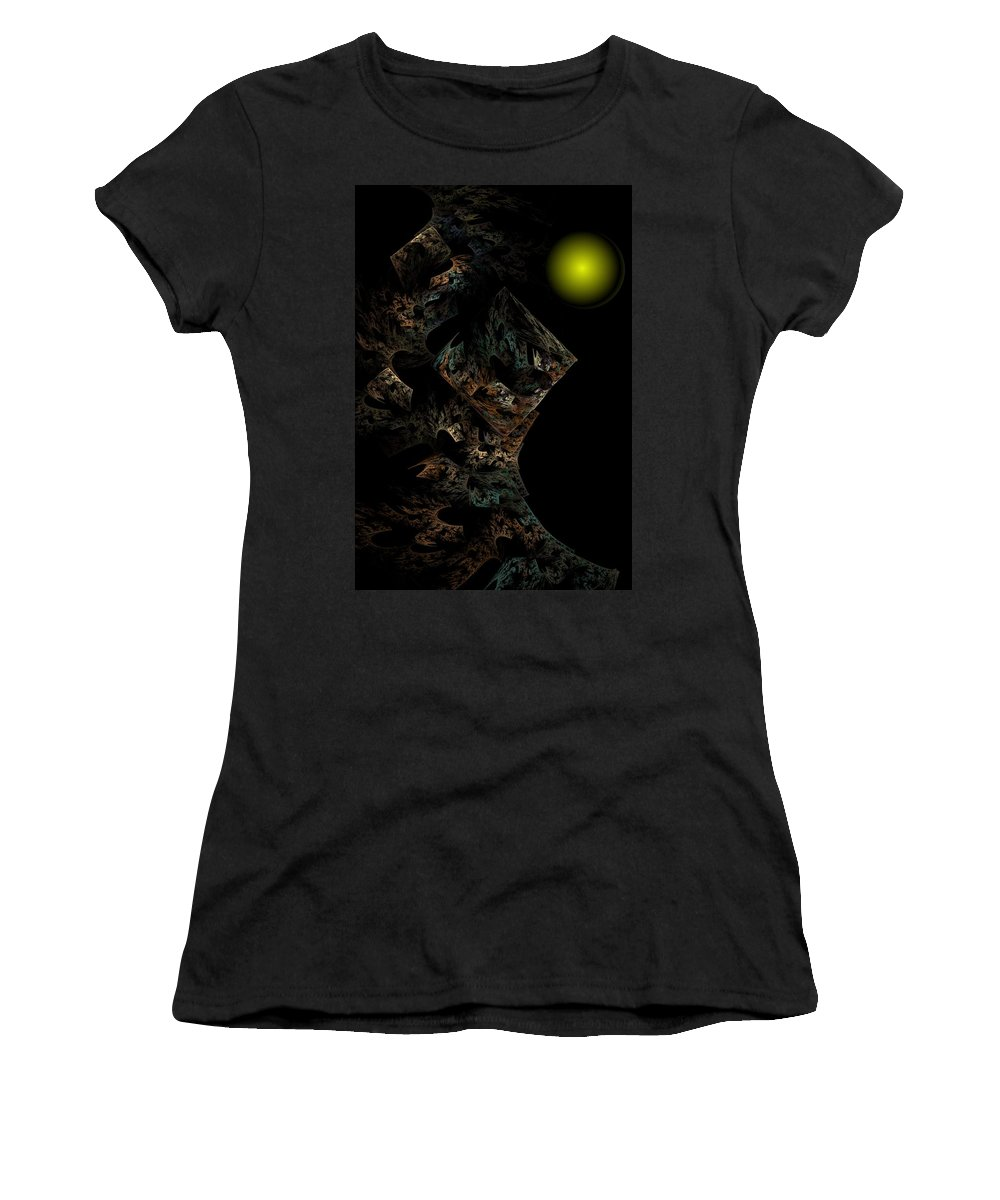 Fantasy Women's T-Shirt featuring the digital art Untitled 12-18-09 by David Lane