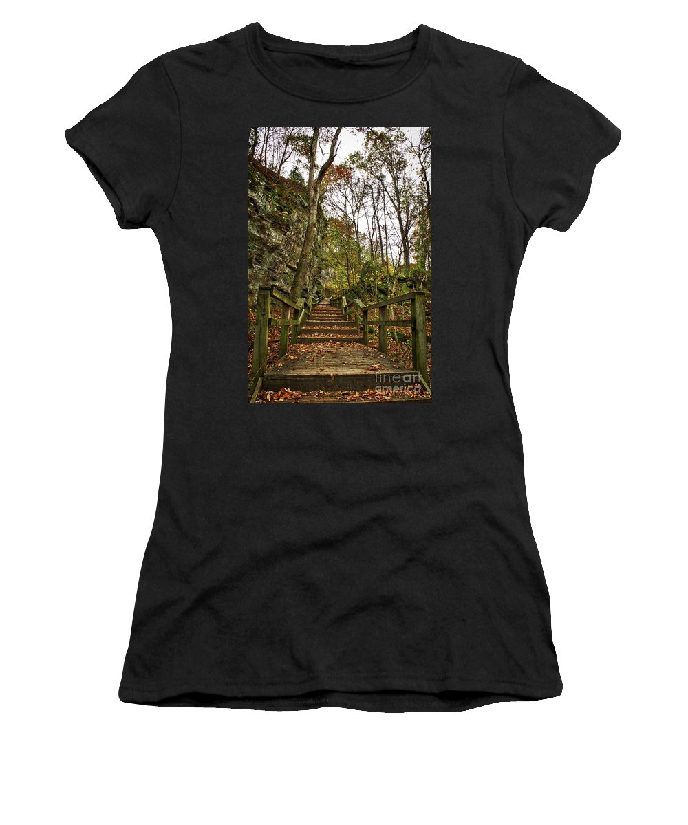 Bluff Women's T-Shirt (Athletic Fit) featuring the photograph Up The Bluff by Ty Shults