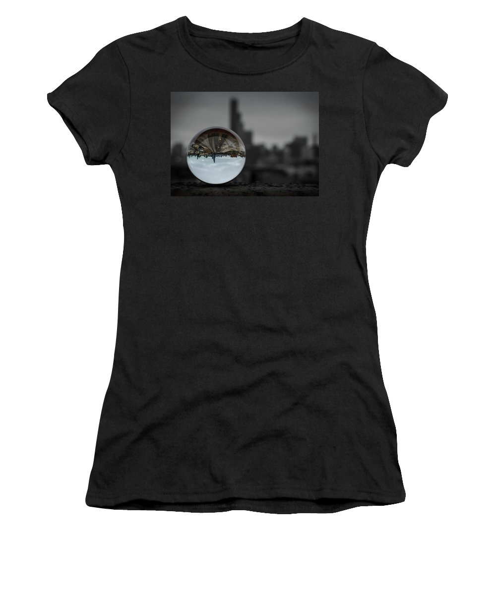 Crystal Women's T-Shirt featuring the photograph Upside Down Chicago by Wander Ponder Photo