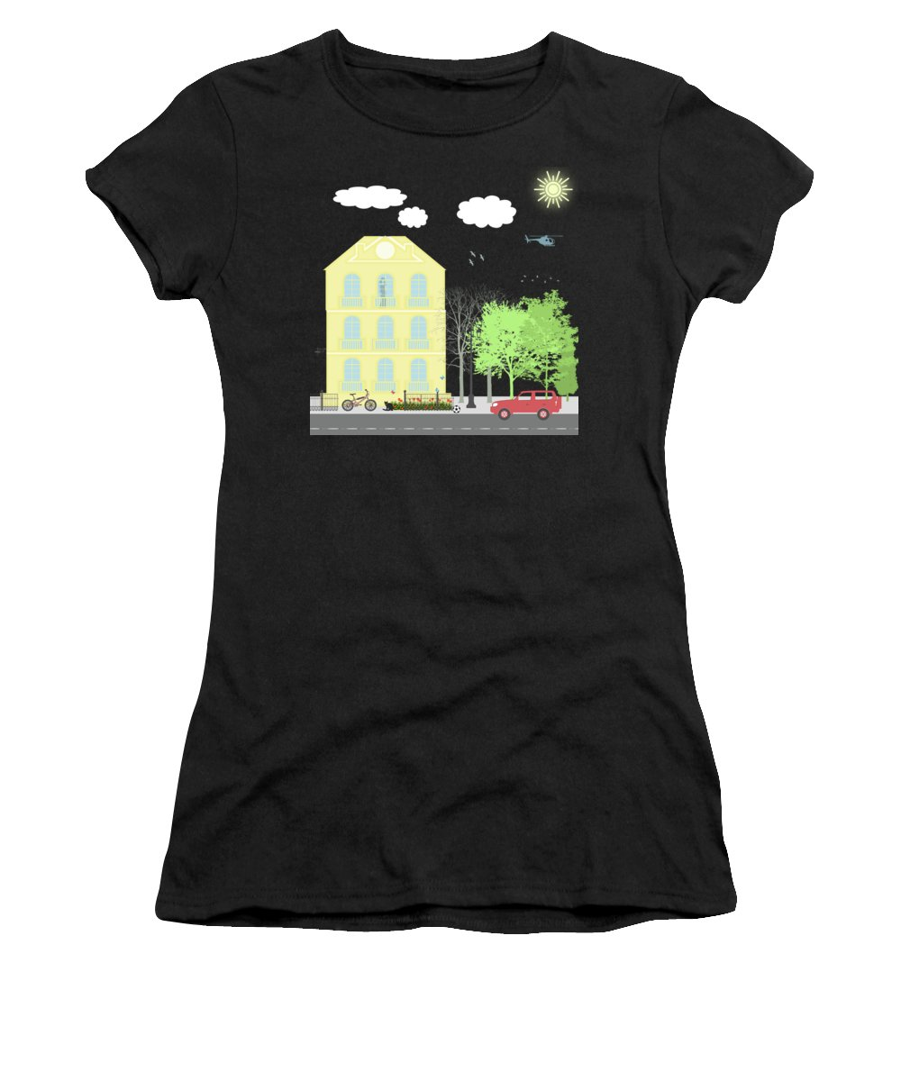 Residence Digital Art Women's T-Shirts