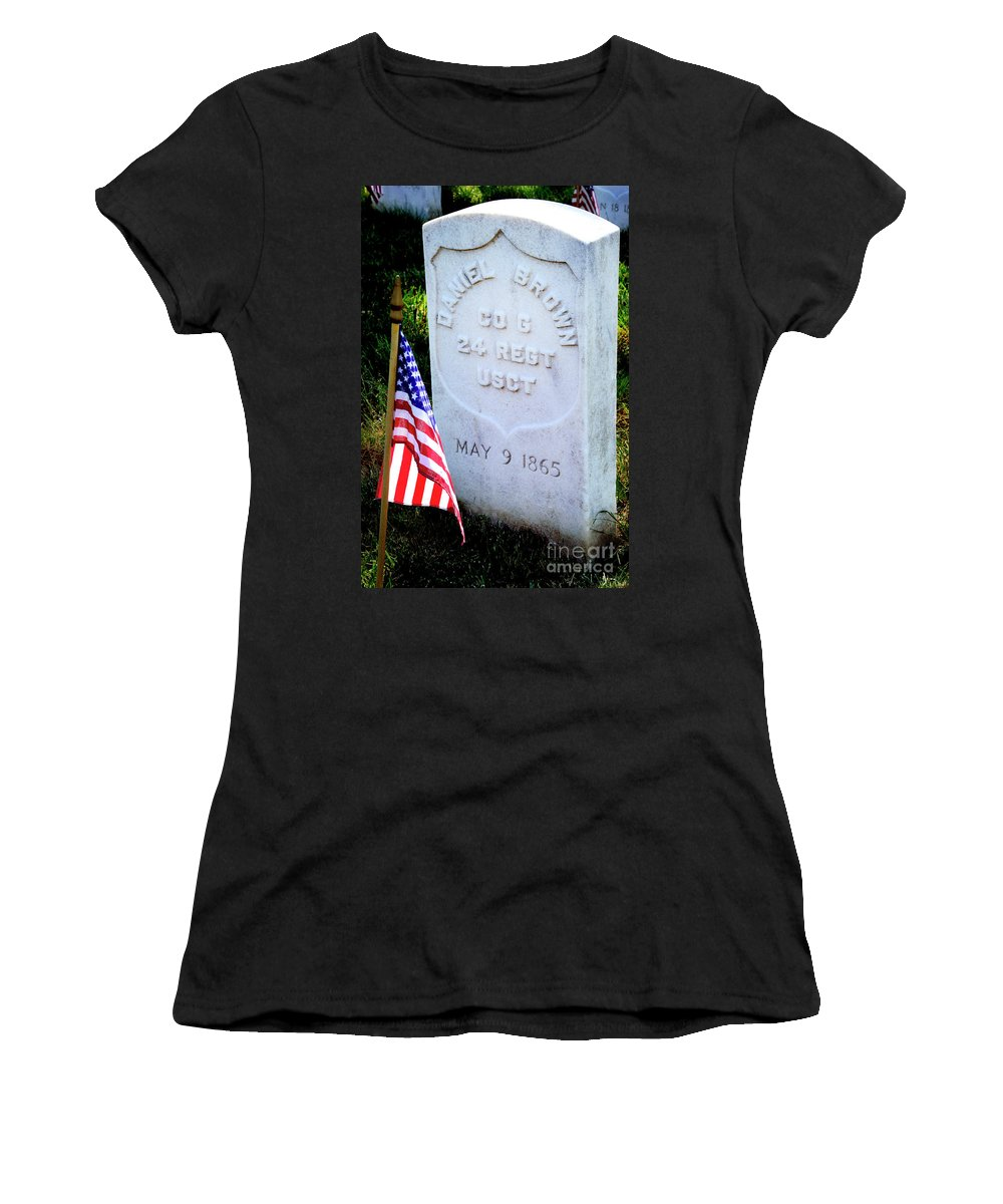 Colored Troops Women's T-Shirt (Athletic Fit) featuring the photograph Us Colored Troops by Paul W Faust - Impressions of Light