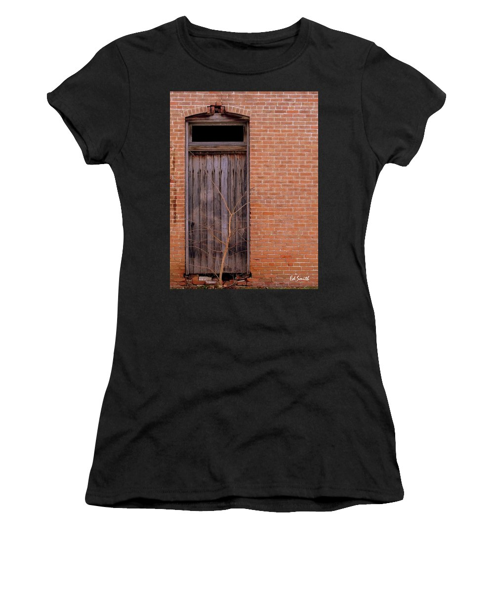 Use Side Entrance Women's T-Shirt (Athletic Fit) featuring the photograph Use Side Entrance by Ed Smith