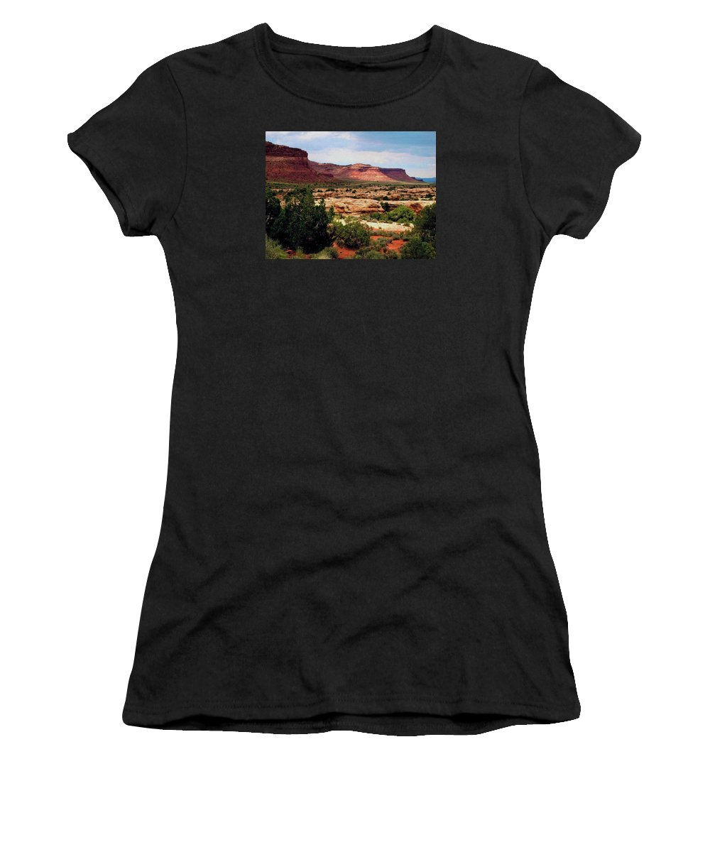 Utah Women's T-Shirt (Athletic Fit) featuring the photograph Utah Plateau Mtn M 303 by Sierra Dall