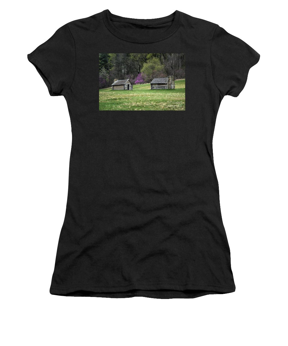 American Revolution Women's T-Shirt (Athletic Fit) featuring the photograph Vally Forge Park by John Greim