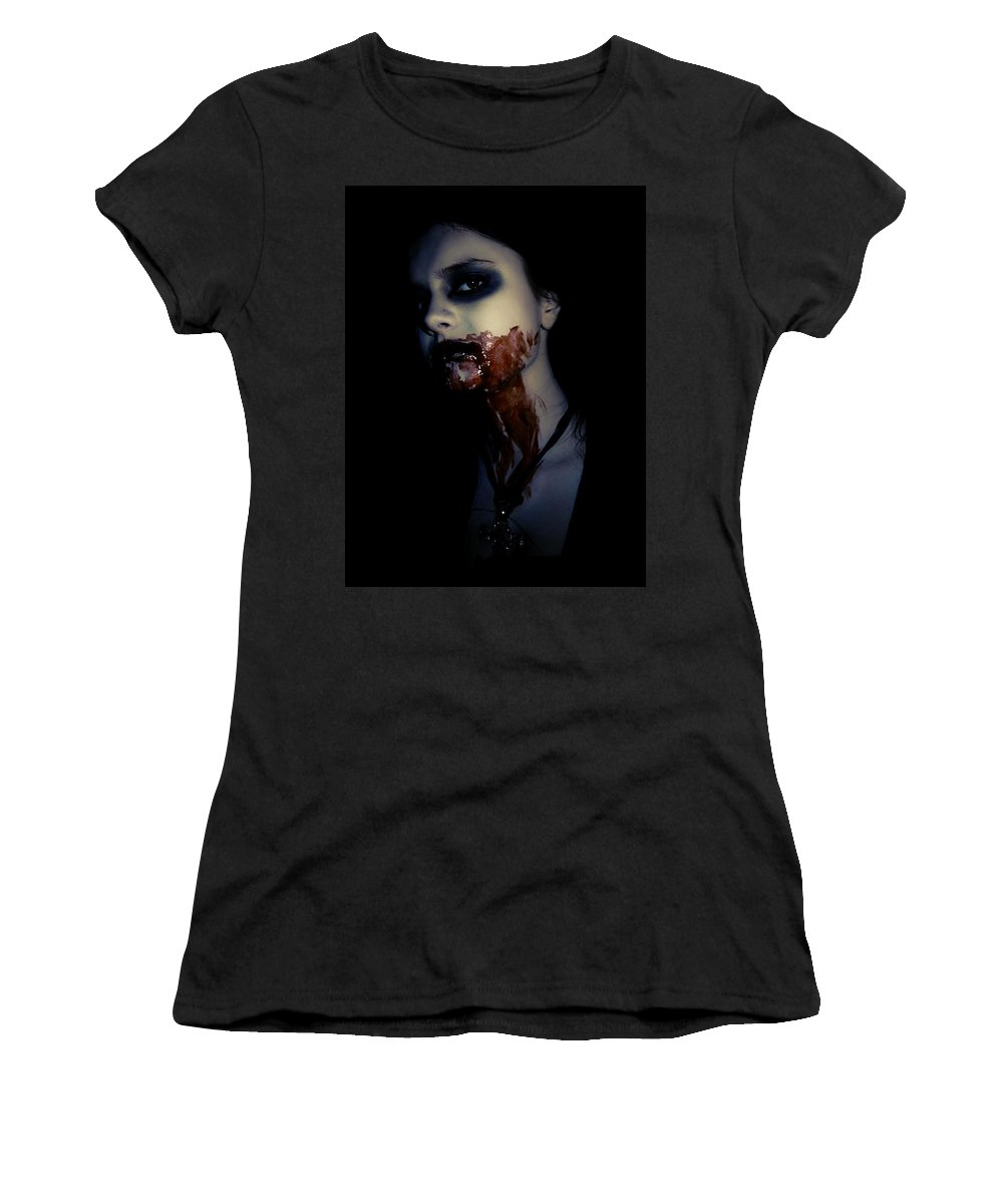 Vampire Women's T-Shirt (Athletic Fit) featuring the photograph Vampire Feed by Kelly Jade King
