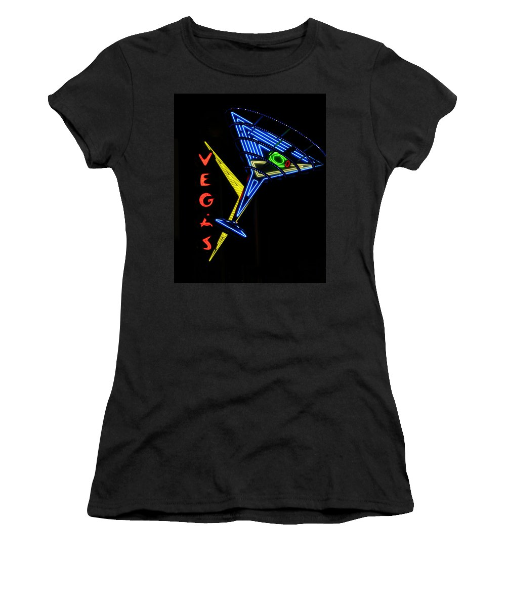 Las Vegas Women's T-Shirt (Athletic Fit) featuring the photograph Vegas by Anthony Jones