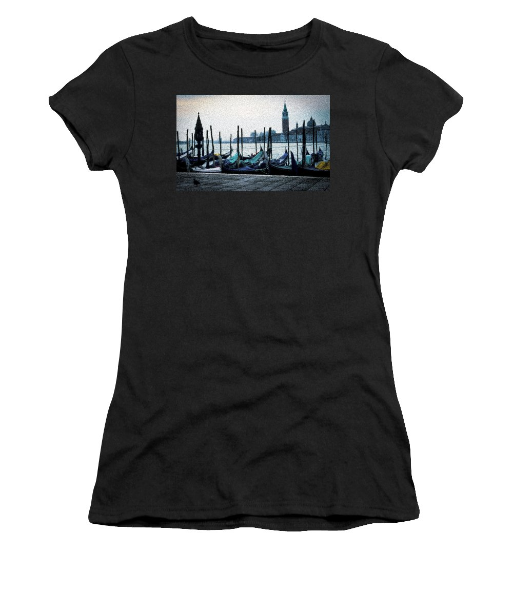 Venice Women's T-Shirt (Athletic Fit) featuring the photograph Venice Morning by Janine Moore