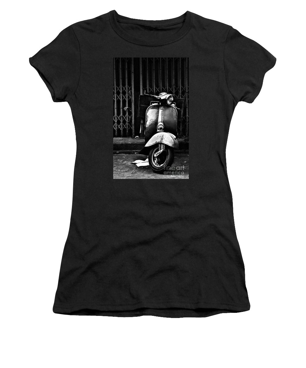 Vespa Women's T-Shirt (Athletic Fit) featuring the photograph Vespa by Samantha Poli