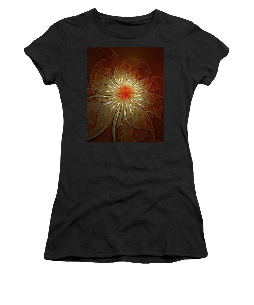 Digital Art Women's T-Shirt (Athletic Fit) featuring the digital art Vibrance by Amanda Moore