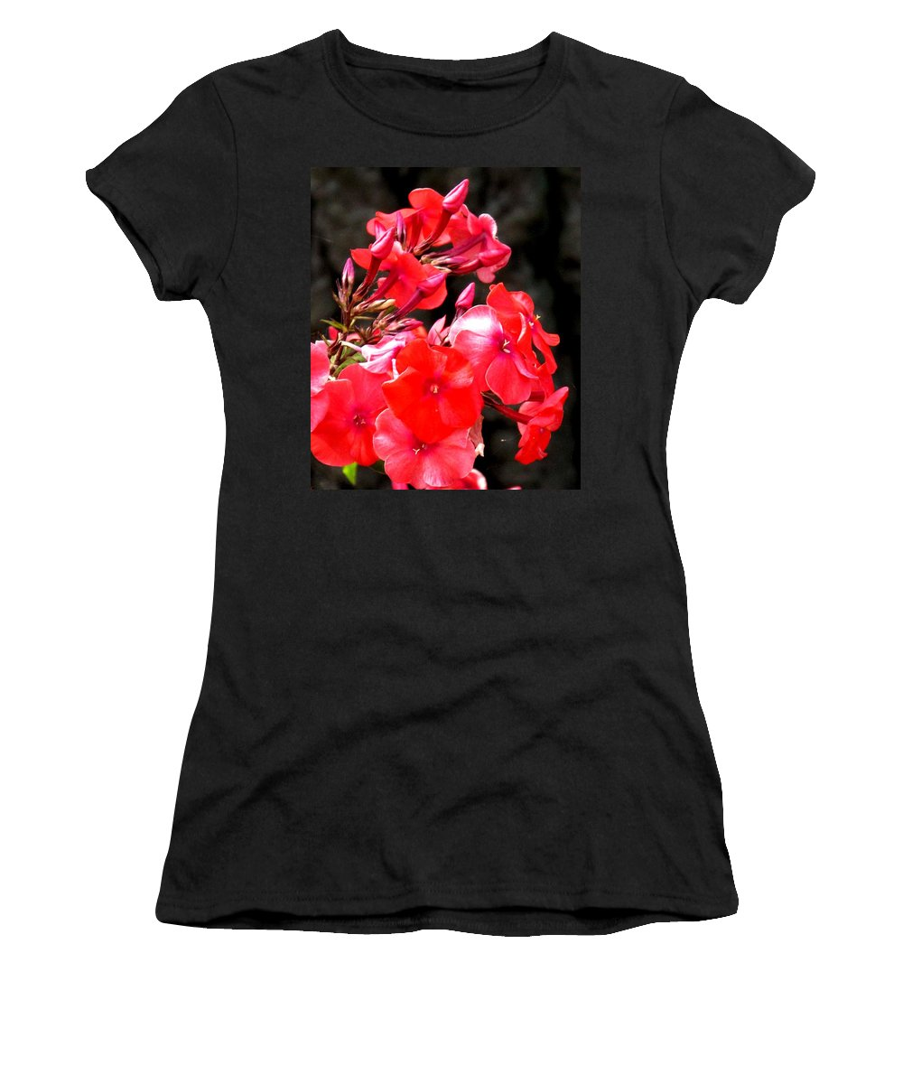 Red Women's T-Shirt featuring the photograph Vibrant by Ian MacDonald