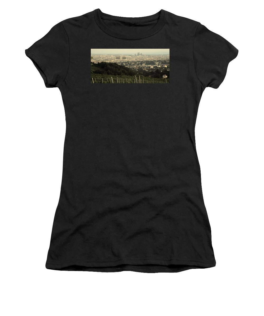 Vienna Women's T-Shirt (Athletic Fit) featuring the photograph Vienna From The Hills by Ian MacDonald