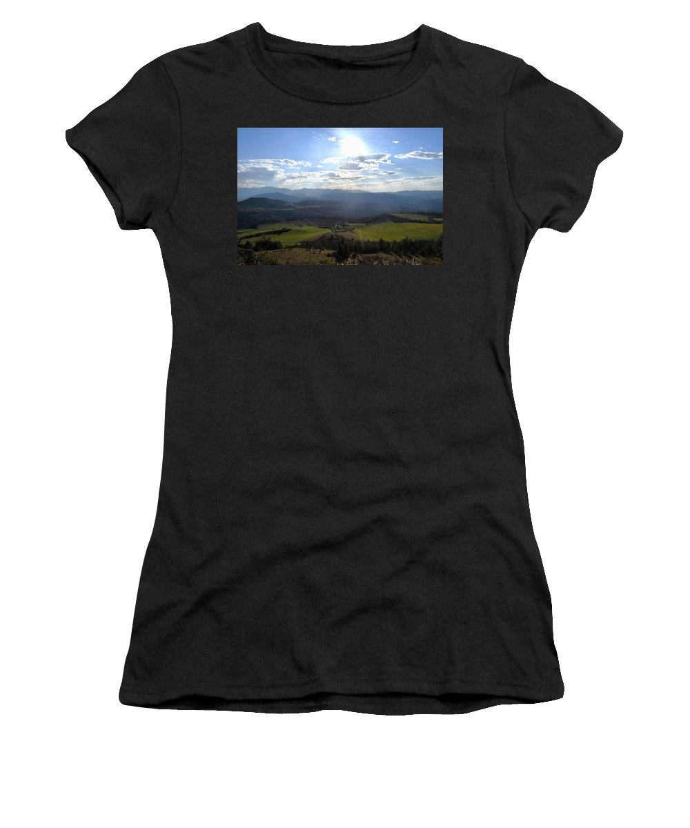Nebias Women's T-Shirt (Athletic Fit) featuring the photograph View From Nebias by Dawn Richerson