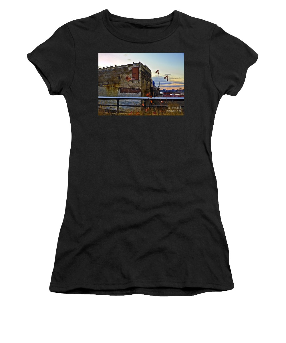 High Line Women's T-Shirt (Athletic Fit) featuring the photograph View From The High Line by Madeline Ellis
