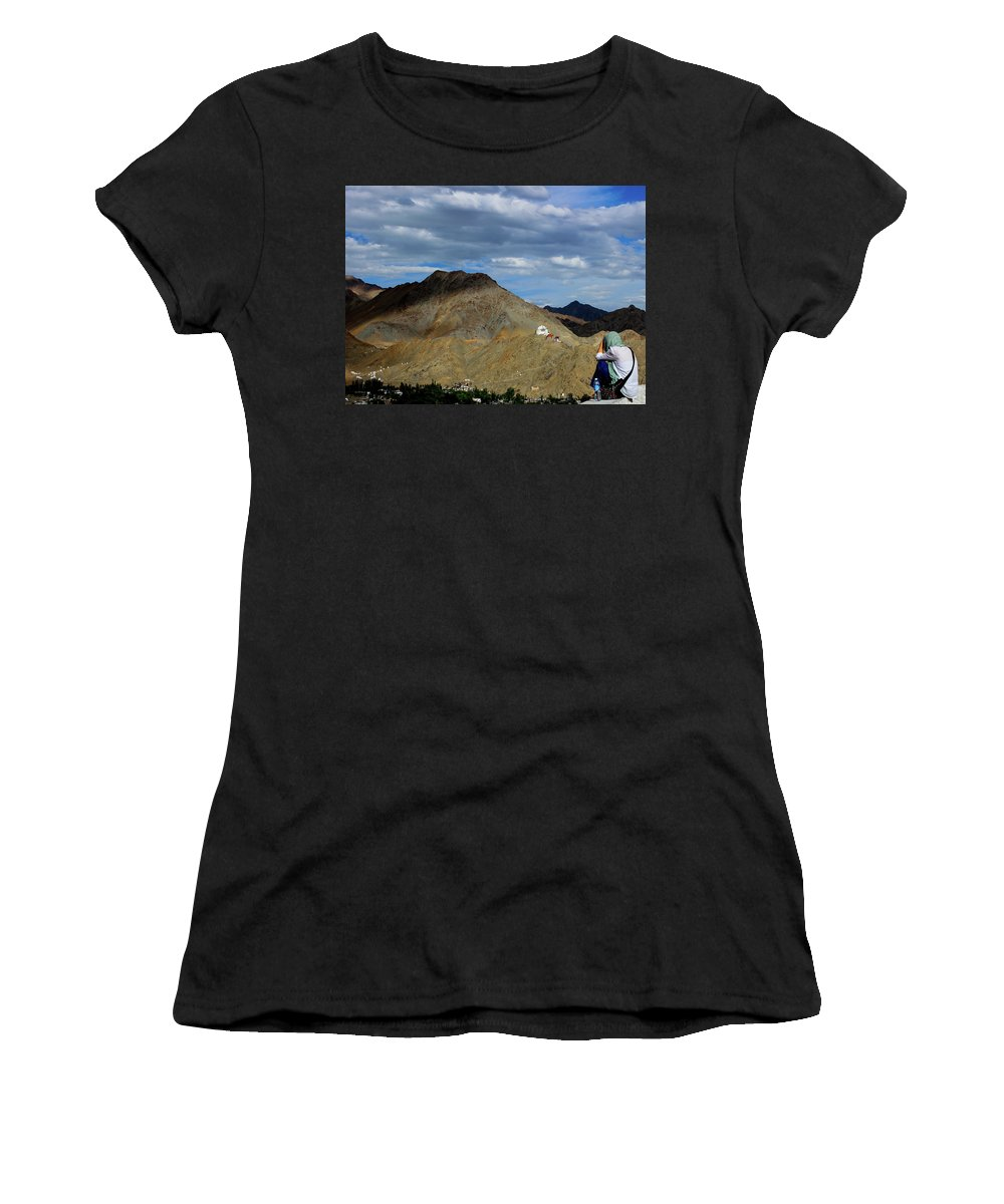 Landscape Women's T-Shirt (Athletic Fit) featuring the photograph View Of The View by Srijani Bhattacharya