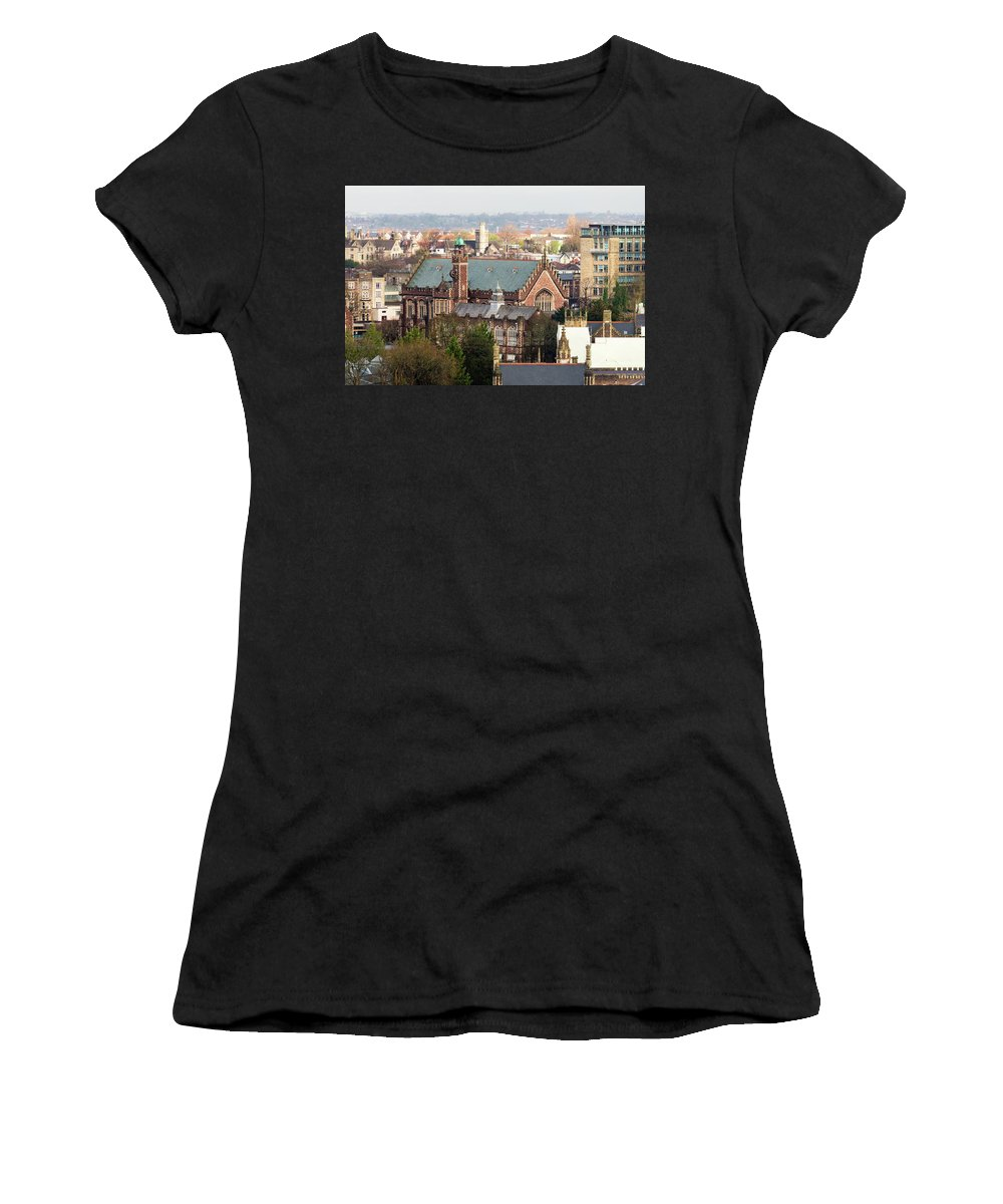 Architecture Women's T-Shirt (Athletic Fit) featuring the photograph View Over Bristol With Bristol Grammar School by Jacek Wojnarowski