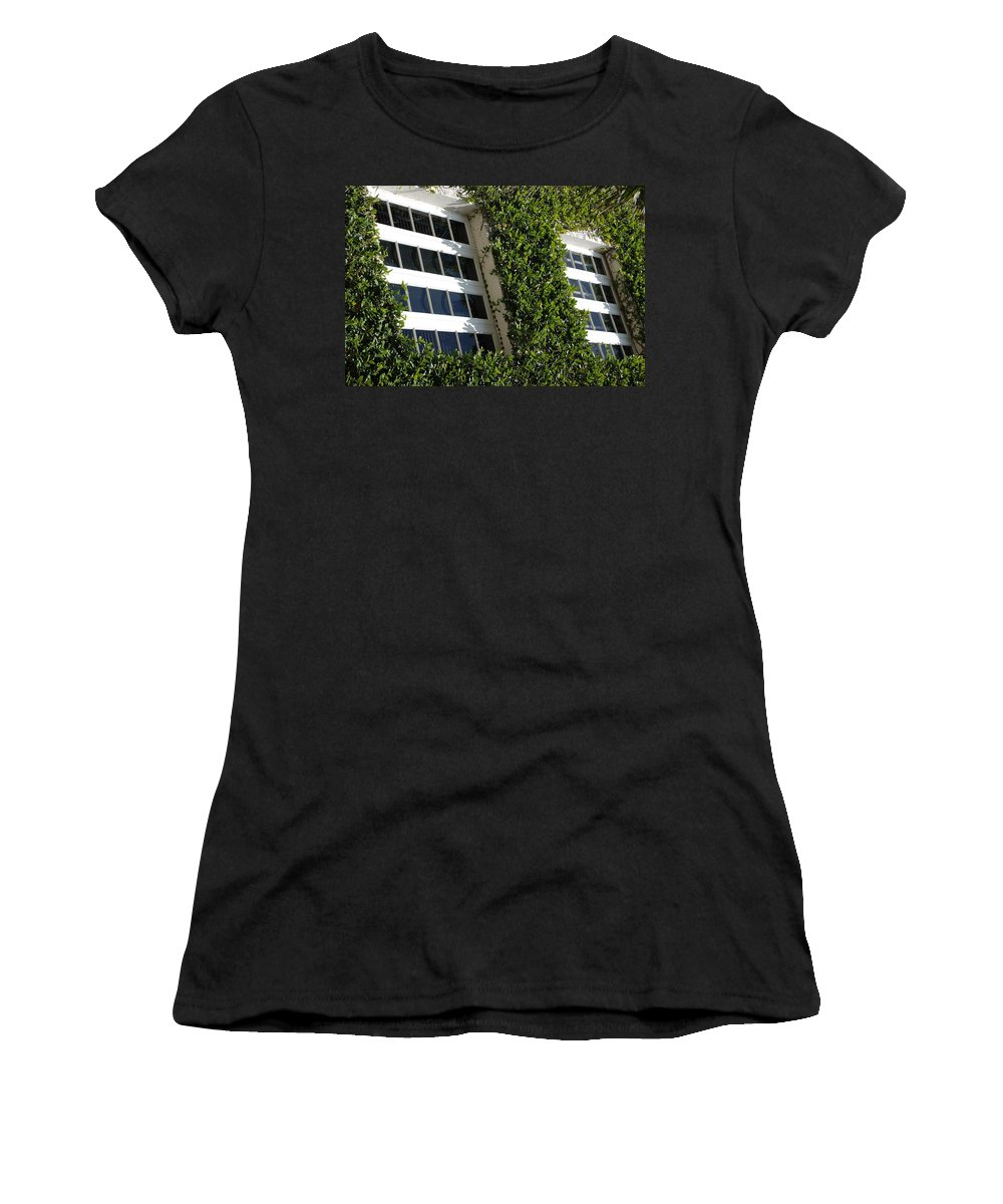 Architecture Women's T-Shirt featuring the photograph Vines And Glass by Rob Hans