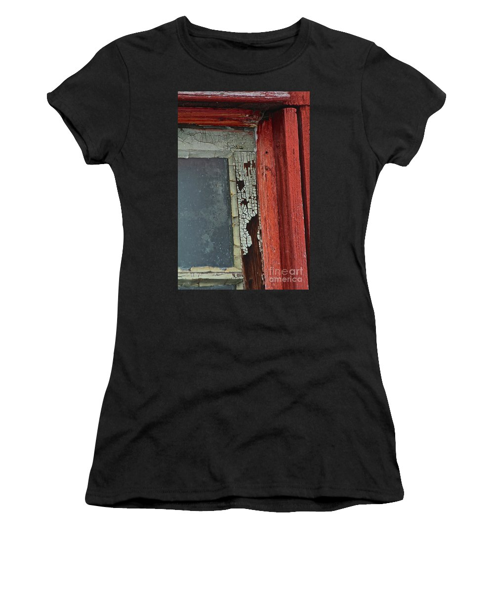 Vintage Women's T-Shirt (Athletic Fit) featuring the photograph Vintage Crackle by Ann E Robson