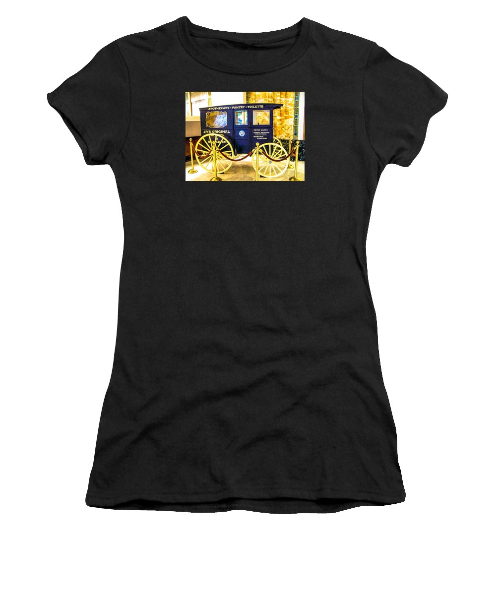 Antique Women's T-Shirt featuring the photograph Vintage Delivery Wagon by Tom Zukauskas