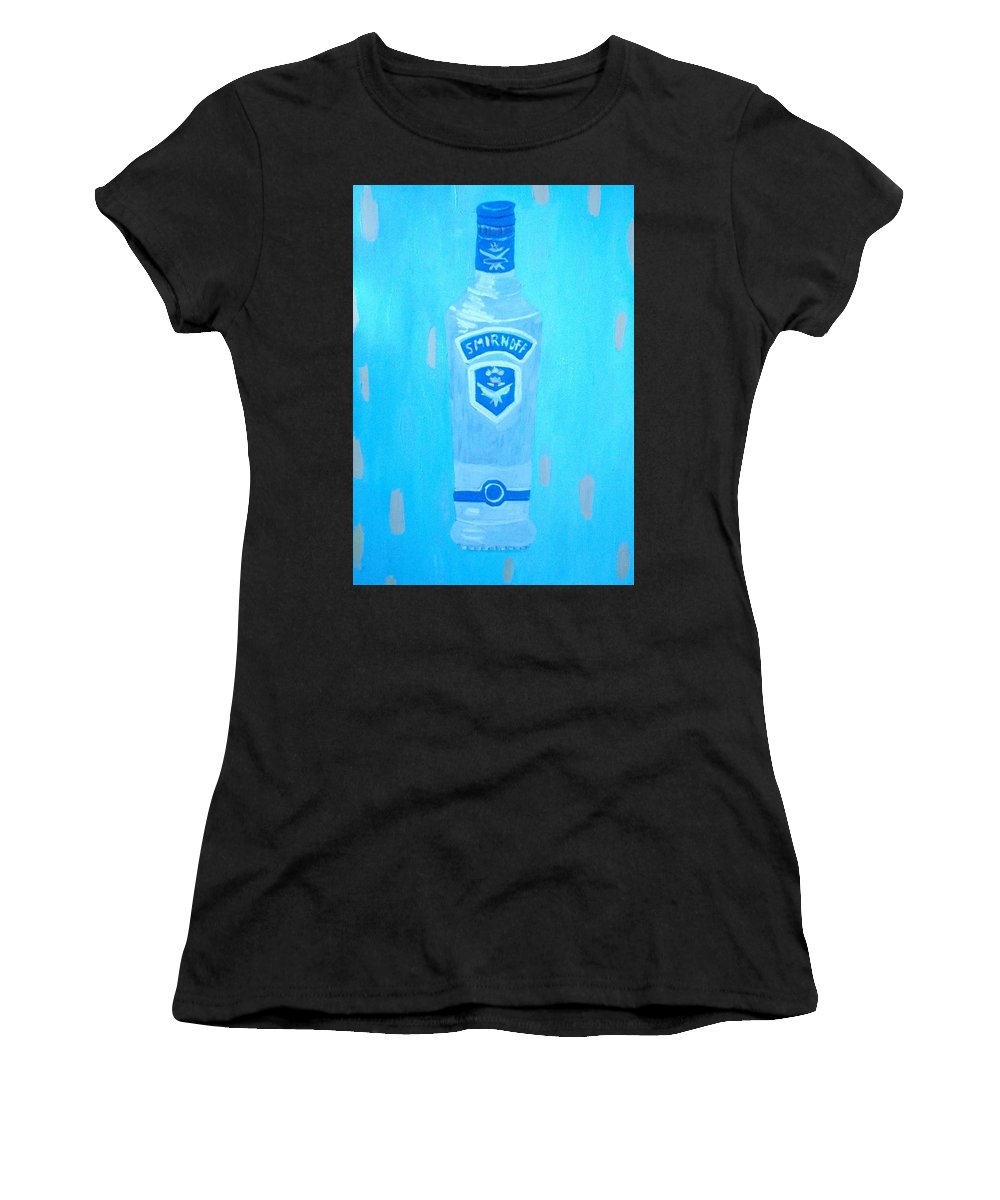 Pop Art Women's T-Shirt (Athletic Fit) featuring the painting Vodka by Patrice Tullai